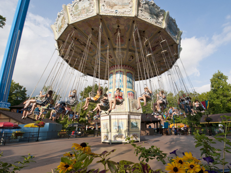 Der Wirbelwind Swing Ride Busch Gardens Williamsburg