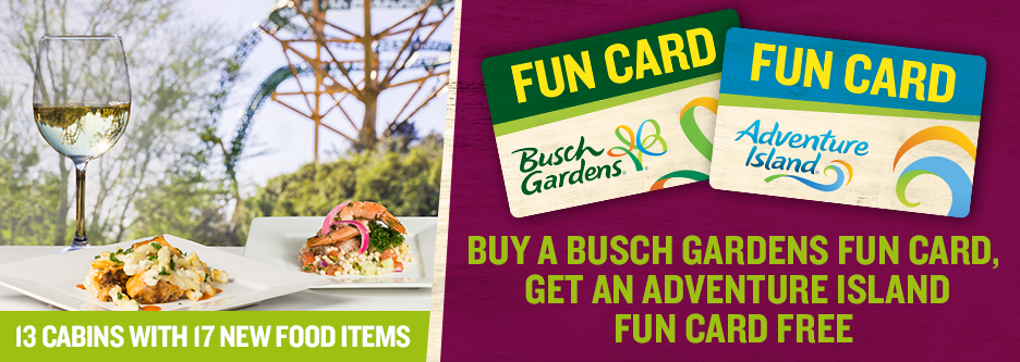 Busch gardens tampa deals coupons samurai blue coupon Busch gardens pass member benefits