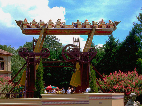 Da Vincis Cradle Rides Busch Gardens Williamsburg