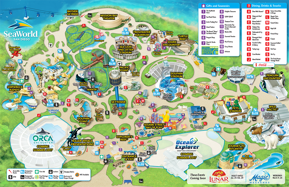 Park Map – Tourist Attractions Map In San Diego