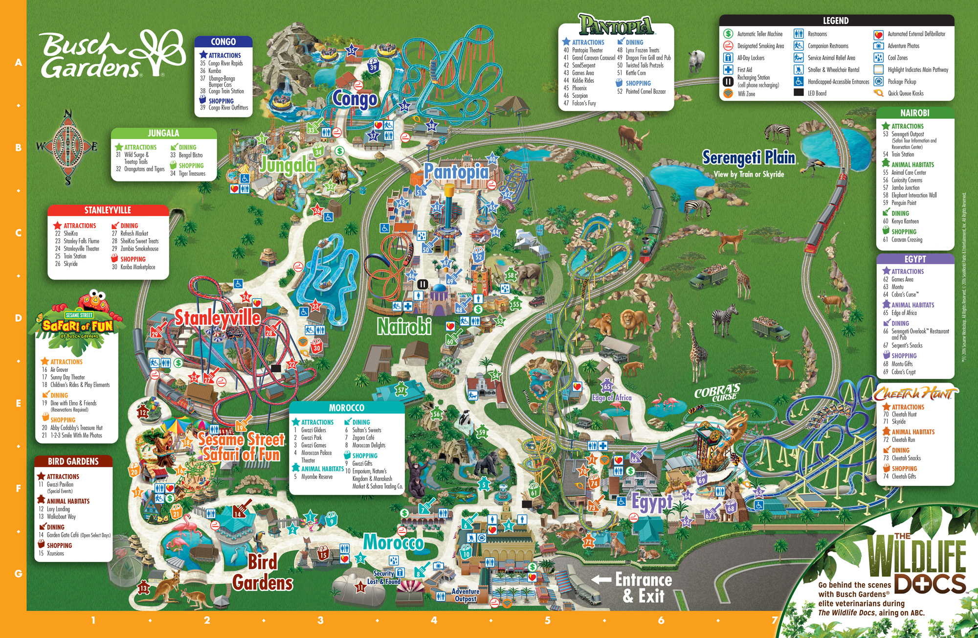 Park Map Busch Gardens Tampa Bay - Usa full map