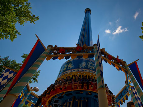 Mach Tower Rides Busch Gardens Williamsburg