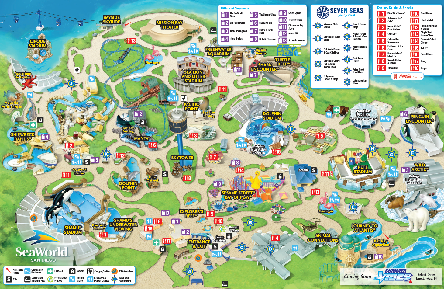 Park Map Seaworld San Diego