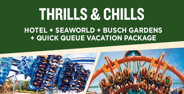 Thrills Chills 2 Park Package Busch Gardens Tampa Bay