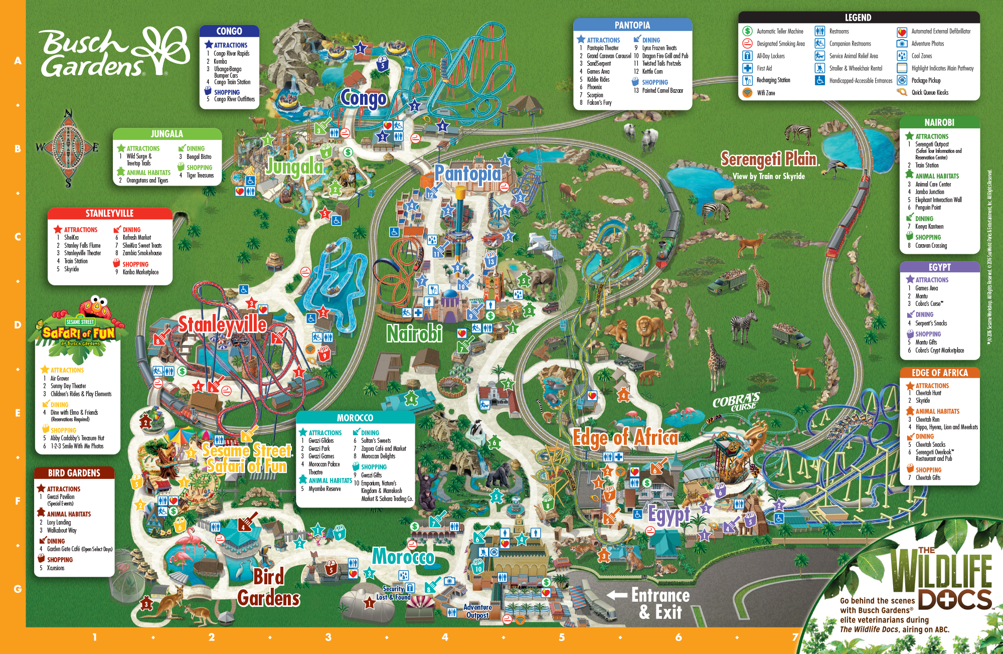Explore all of Busch Gardens Tampa Bay by viewing our park map! Don't forget to download the mobile app and take advantage of turn by turn directions and ride wait times!