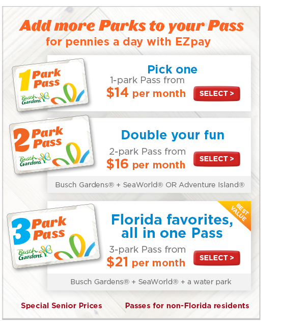 Buy Annual Passes Busch Gardens Tampa
