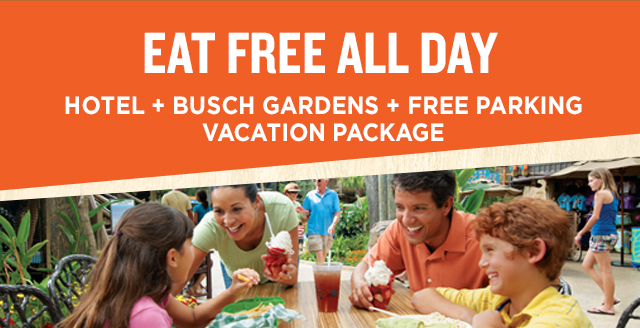 Eat FREE Package Busch Gardens Tampa Bay