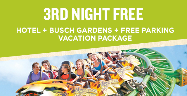 3rd Night FREE Package Busch Gardens Tampa Bay