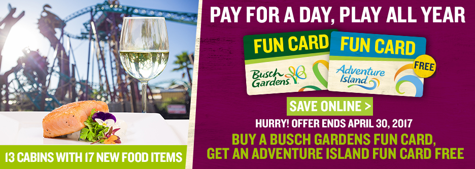 Busch gardens fun card blackout dates garden ftempo for Best day go busch gardens tampa